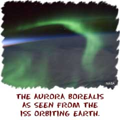 Aurora borealis as seen from international space station