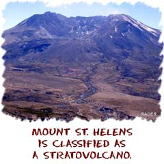 mount st helens is classified as a stratovolcano
